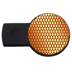 Red And Gold Effect Backing Paper USB Flash Drive Round (4 GB)