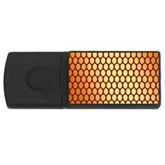 Red And Gold Effect Backing Paper USB Flash Drive Rectangular (4 GB)