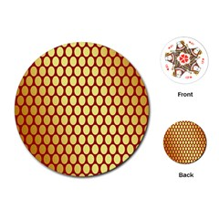Red And Gold Effect Backing Paper Playing Cards (Round)