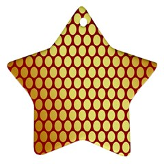Red And Gold Effect Backing Paper Star Ornament (Two Sides)
