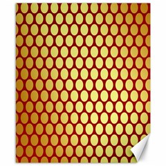 Red And Gold Effect Backing Paper Canvas 8  X 10