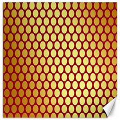 Red And Gold Effect Backing Paper Canvas 12  x 12