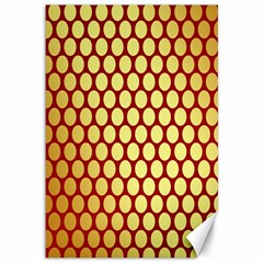 Red And Gold Effect Backing Paper Canvas 12  X 18