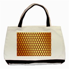 Red And Gold Effect Backing Paper Basic Tote Bag (Two Sides)