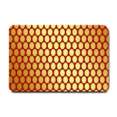 Red And Gold Effect Backing Paper Small Doormat