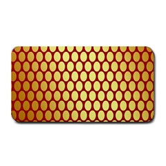 Red And Gold Effect Backing Paper Medium Bar Mats