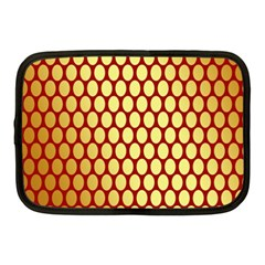 Red And Gold Effect Backing Paper Netbook Case (Medium)