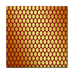 Red And Gold Effect Backing Paper Face Towel