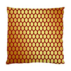 Red And Gold Effect Backing Paper Standard Cushion Case (Two Sides)