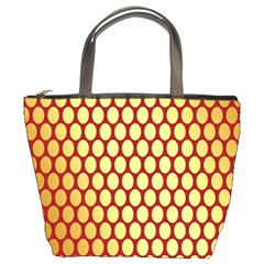 Red And Gold Effect Backing Paper Bucket Bags