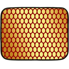 Red And Gold Effect Backing Paper Double Sided Fleece Blanket (mini)