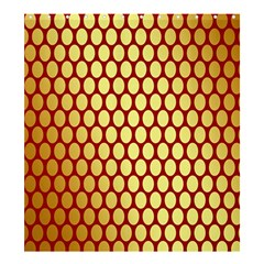 Red And Gold Effect Backing Paper Shower Curtain 66  X 72  (large)