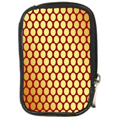 Red And Gold Effect Backing Paper Compact Camera Cases