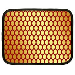 Red And Gold Effect Backing Paper Netbook Case (xxl)