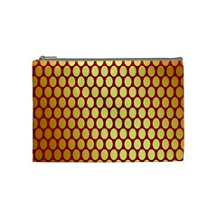 Red And Gold Effect Backing Paper Cosmetic Bag (Medium)