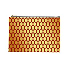 Red And Gold Effect Backing Paper Cosmetic Bag (Large)