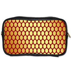Red And Gold Effect Backing Paper Toiletries Bags 2-Side