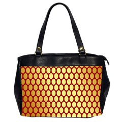 Red And Gold Effect Backing Paper Office Handbags (2 Sides)