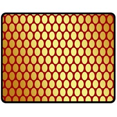 Red And Gold Effect Backing Paper Fleece Blanket (Medium)