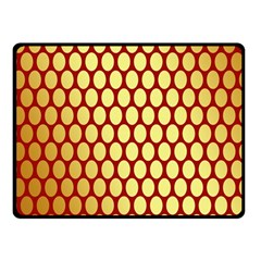 Red And Gold Effect Backing Paper Fleece Blanket (small)
