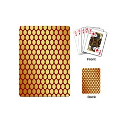 Red And Gold Effect Backing Paper Playing Cards (Mini)