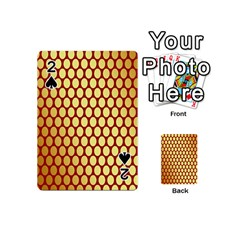 Red And Gold Effect Backing Paper Playing Cards 54 (Mini)