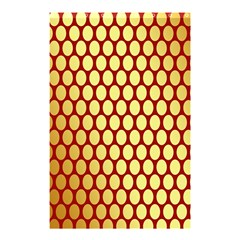 Red And Gold Effect Backing Paper Shower Curtain 48  x 72  (Small)