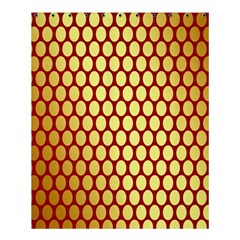 Red And Gold Effect Backing Paper Shower Curtain 60  X 72  (medium)