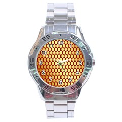 Red And Gold Effect Backing Paper Stainless Steel Analogue Watch