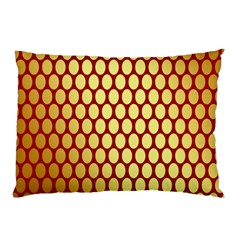 Red And Gold Effect Backing Paper Pillow Case (two Sides)