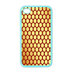 Red And Gold Effect Backing Paper Apple Iphone 4 Case (color)