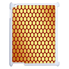 Red And Gold Effect Backing Paper Apple Ipad 2 Case (white)