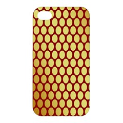 Red And Gold Effect Backing Paper Apple Iphone 4/4s Hardshell Case