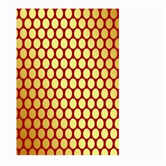 Red And Gold Effect Backing Paper Large Garden Flag (two Sides)