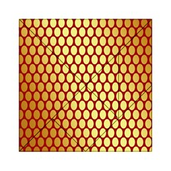 Red And Gold Effect Backing Paper Acrylic Tangram Puzzle (6  x 6 )