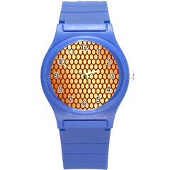 Red And Gold Effect Backing Paper Round Plastic Sport Watch (s)