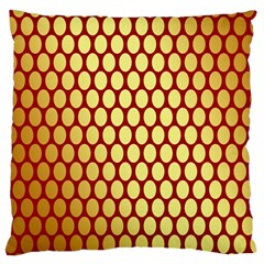 Red And Gold Effect Backing Paper Large Cushion Case (one Side)