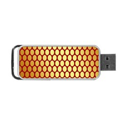 Red And Gold Effect Backing Paper Portable Usb Flash (two Sides)