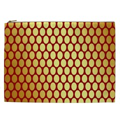Red And Gold Effect Backing Paper Cosmetic Bag (XXL)