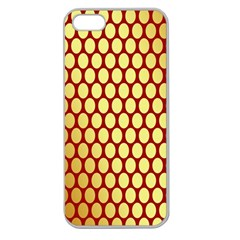 Red And Gold Effect Backing Paper Apple Seamless iPhone 5 Case (Clear)