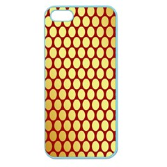 Red And Gold Effect Backing Paper Apple Seamless Iphone 5 Case (color)