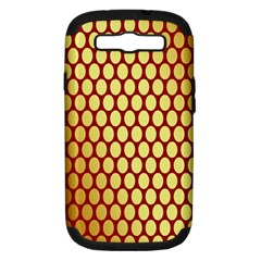 Red And Gold Effect Backing Paper Samsung Galaxy S Iii Hardshell Case (pc+silicone)