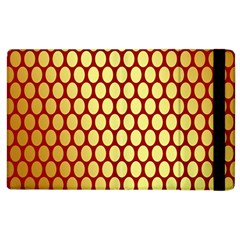 Red And Gold Effect Backing Paper Apple Ipad 3/4 Flip Case