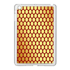 Red And Gold Effect Backing Paper Apple iPad Mini Case (White)