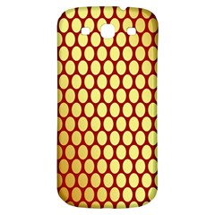Red And Gold Effect Backing Paper Samsung Galaxy S3 S III Classic Hardshell Back Case