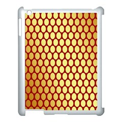 Red And Gold Effect Backing Paper Apple Ipad 3/4 Case (white)