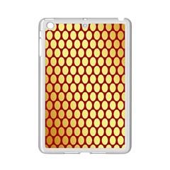 Red And Gold Effect Backing Paper iPad Mini 2 Enamel Coated Cases