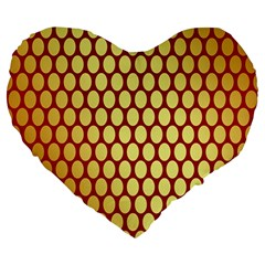 Red And Gold Effect Backing Paper Large 19  Premium Heart Shape Cushions