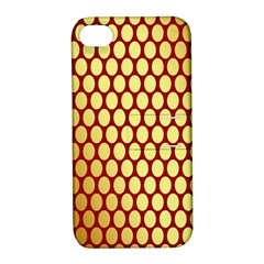 Red And Gold Effect Backing Paper Apple iPhone 4/4S Hardshell Case with Stand