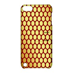Red And Gold Effect Backing Paper Apple Ipod Touch 5 Hardshell Case With Stand